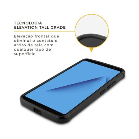 Capa Ultra Slim Air Preta para Samsung Galaxy A8 - Gorila Shield