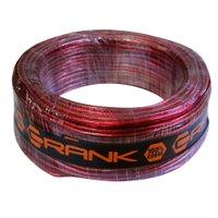 Fio Flexível Crank Cabo de Bateria para Sonorização Profissional 6mm 50 Metros Vermelho Cristal