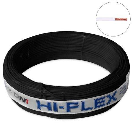 Fio Flexível para Instalação Automotiva Dni Hi-Flex 0,50 mm 100 Metros Preto