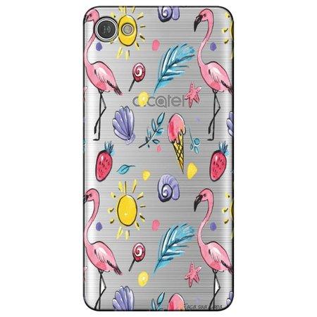 Capa Personalizada para Alcatel A5 Led - Flamingos - TP318