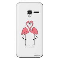 Capa Personalizada para Alcatel Pixi 3 4.5 Casal Flamingos - TP316