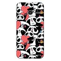 Capa Personalizada para Alcatel Pixi 3 4.5 Love Panda - LV21
