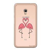 Capa Personalizada para Alcatel Pixi 4 5.0 Casal Flamingos - TP316