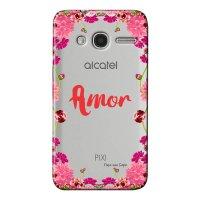 Capa Personalizada para Alcatel Pixi 4 4.0 Amor - TP267