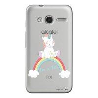 Capa Personalizada para Alcatel Pixi 4 4.0 Baby Unicórnio - TP312