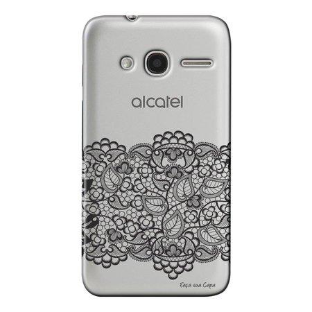 Capa Personalizada para Alcatel Pixi 4 4.0 Renda - TP300
