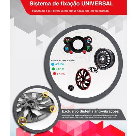 Calota Esportiva Passat CC Aro 13 Preto Fosco Encaixe Universal