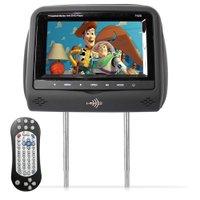 Encosto de Cabeça Kx3 Tela LCD 7 Dvd Usb Sd Com Controle Joystick Grafite