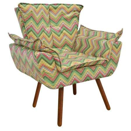Poltrona Decorativa Opala Estampado Crochê D55 - D'Rossi