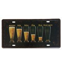 Quadro Placa Metal Decorativa Vintage Chopp Cerveja Beer 15x30