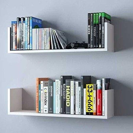 Prateleira U Decorativa Organizador Branca 67x16 cm - D'Rossi