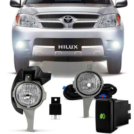 Kit Farol de Milha Toyota Hilux SRV SR 2005 a 2008 - SHOCKLIGHT