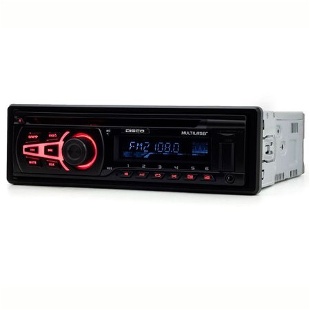Rádio Automotivo Player Multilaser P3322 CD Mp3 Usb Bluetooth Auxiliar Frontal