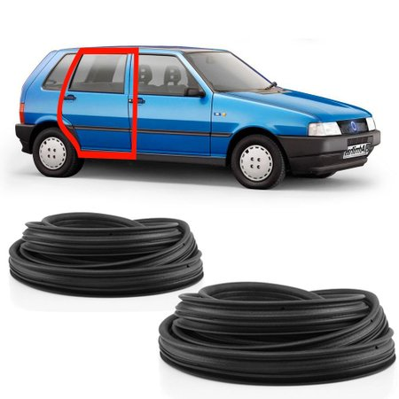 Kit Borracha da Porta Traseira Fiat Uno Prêmio Elba 1991 em diante 4 Portas