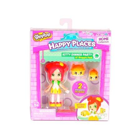 Shopkins Happy Places Kit Mini Shoppies Kristina Maçã Cozinha Gatinhos - DTC