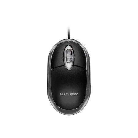 Mouse Multilaser Classic Com Fio Preto Usb - MO007