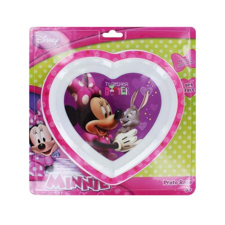 Prato Raso Coração Para Microondas Minnie Multikids Baby - BB092