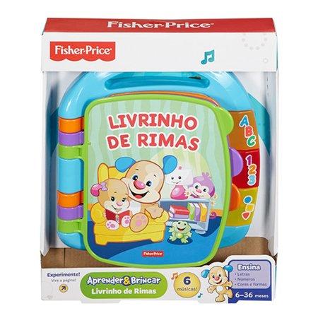 Fisher Price Aprender e Brincar Livro de Rimas Aprender - Mattel