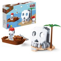 Snoopy Fierce Pirate Ilha do Esqueleto 84 Peças - Banbao