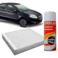 Filtro do Ar Condicionado Cabine Fiat Linea 1.9 1.4 16VPunto 1.4 8V 1.8 16VFlex + Higienizador