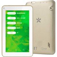 Tablet Mirage 41T, QuadCore, Dual Câmera 2MP + 1.3MP, Tela 7 Polegadas, Android 4.4, Dourado - NB250