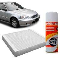 Filtro do Ar Condicionado Cabine Honda CRX CRV Civic + Higienizador