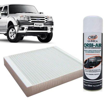 Filtro do Ar Condicionado Cabine Ford Ranger 2012 em diante + Higienizador
