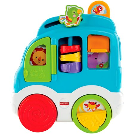 Fisher Price Sons Divertidos Carro dos Animais - Mattel