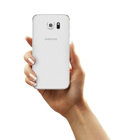 Película Traseira de Fibra de Carbono Transparente para Samsung Galaxy S6 Edge - Gorila Shield