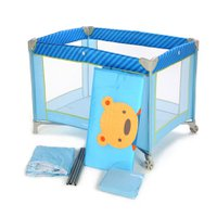 Berço Desmontável Azul Puppy Fit - Voyage