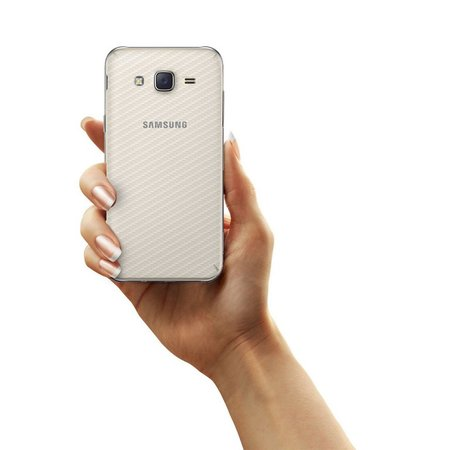 Película Traseira de Fibra de Carbono Transparente para  Samsung Galaxy J7 - Gorila Shield