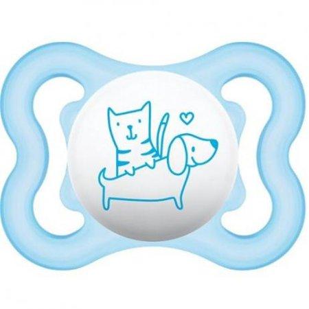 Chupeta Air Tam.1 0-6 Meses Cachorro E Gato Azul- Mam
