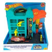 Playset Hot Wheels Downtown Speed Shop Escape - Mattel