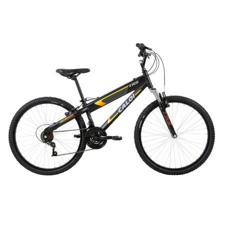 Bicicleta Aro 26 Trs - 21 Marchas Suspensão Dianteira Preta - Caloi