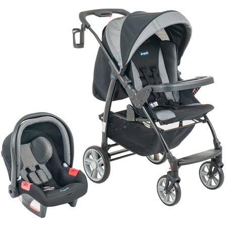 Carrinho de Bebê Travel System Conjunto Módulo com Bebê Conforto Zig Zag - Burigotto