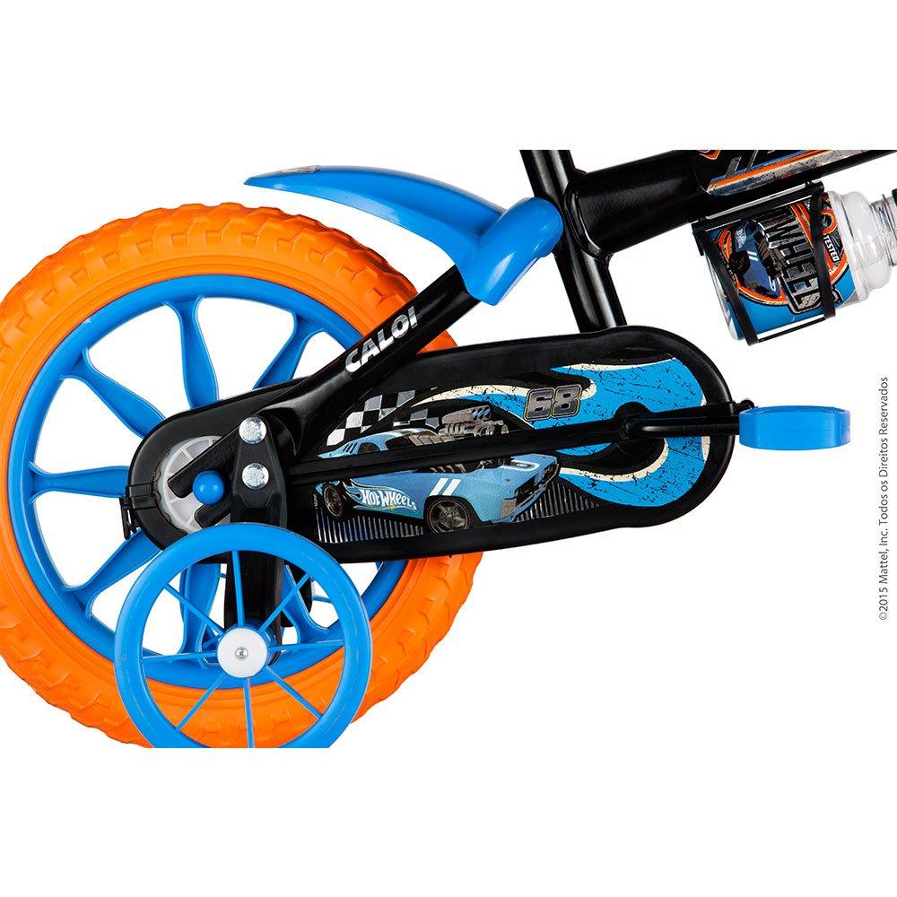 dc899feef Bicicleta Aro 12 com Rodinhas Hot Wheels Preta - Caloi - Colombo
