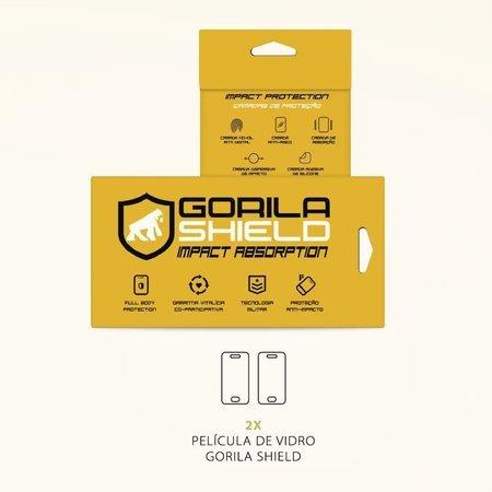 Película de Vidro Dupla + Traseira fibra de carbono para LG K10 - Gorila Shield