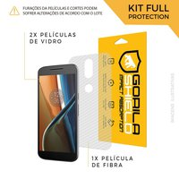 Película de Vidro Dupla + Traseira fibra de carbono para Motorola Moto G4 Plus - Gorila Shield