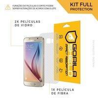 Película de Vidro Dupla + Traseira fibra de carbono para Samsung Galaxy S6 - Gorila Shield