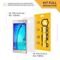 Película de Vidro Dupla + Traseira fibra de carbono para Samsung Galaxy ON7 - Gorila Shield