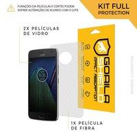 Película de Vidro Dupla + Traseira fibra de carbono para Moto G5 Plus - Gorila Shield
