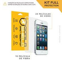 Película de Vidro Dupla + Traseira fibra de carbono para iPhone 5S - Gorila Shield