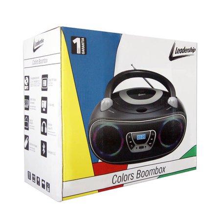 Caixa de Som Colors Boombox Leadership Bluetooth USB/SD/AUX Radio FM/CD Bivolt/Pilhas 1472