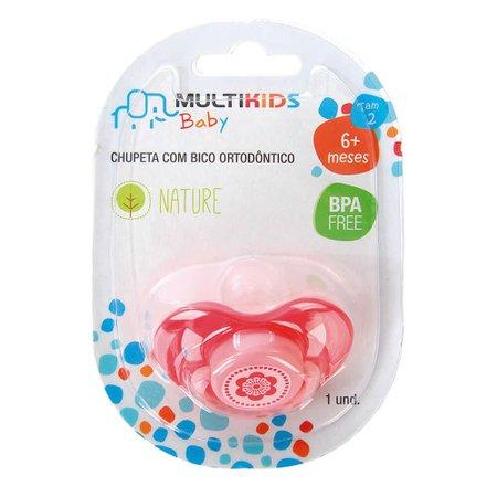 Chupeta Nature Pp Ortoflex Tam 2 Multikids Baby - BB134