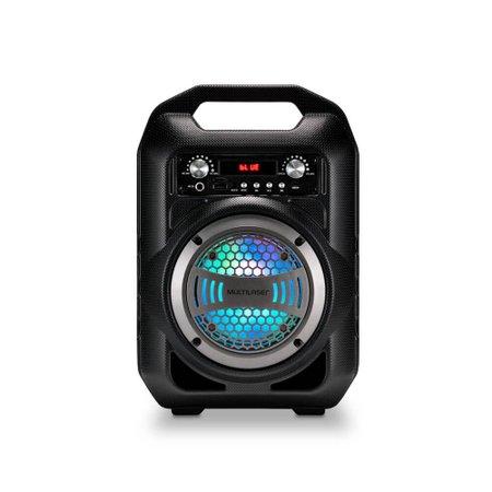 Caixa De Som Multilaser Portátil 4 Polegadas Bluetooth/FM/SD/P2/USB Preta - SP256