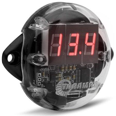 Voltímetro Digital Taramps VTR1000 12V 24V Led Vermelho
