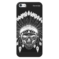 Capa Grafite Personalizada para Apple iPhone 5 5S SE - Índio Caveira - GF06