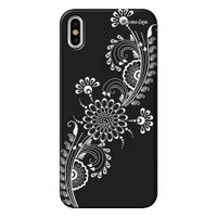 Capa Grafite Personalizada para Apple iPhone X - Flor Tribal - GF09
