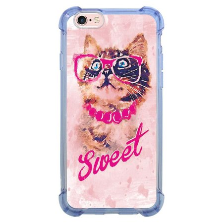 Capa Intelimix Anti-Impacto Azul Apple iPhone 6 6s Pets - PE79