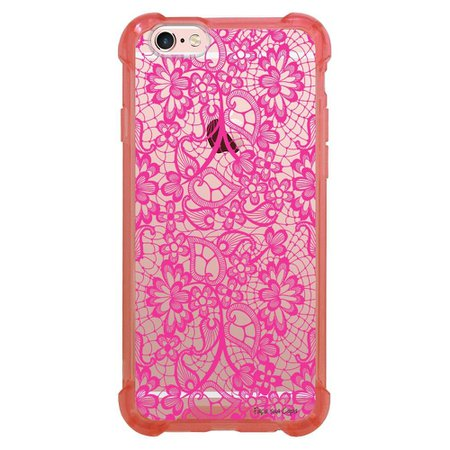 Capa Intelimix Anti-Impacto Rosa Apple iPhone 6 6s Rendas - TP282